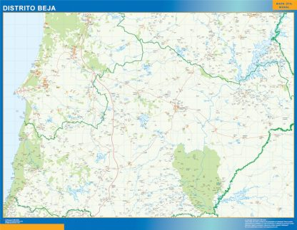 Mapa distrito Beja gigante
