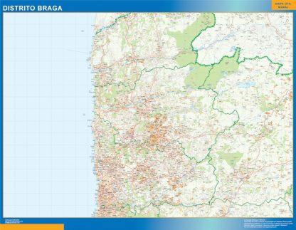 Mapa distrito Braga gigante