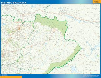 Mapa distrito Bragança gigante