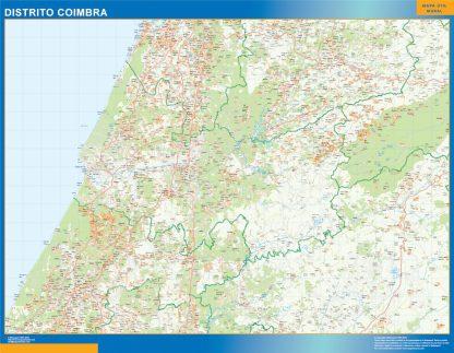 Mapa distrito Coimbra gigante