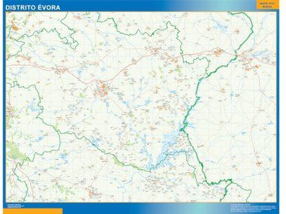Mapa distrito Evora gigante