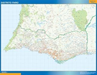 Mapa distrito Faro gigante