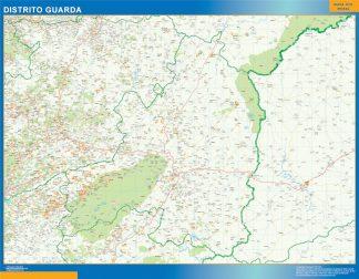 Mapa distrito Guarda gigante