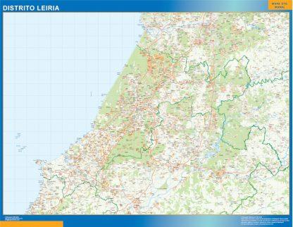 Mapa distrito Leiria gigante