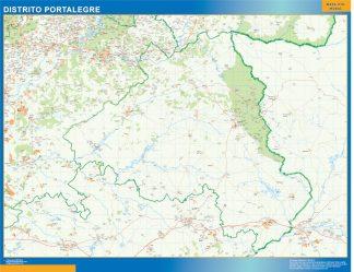 Mapa distrito Portalegre gigante