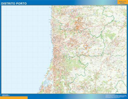 Mapa distrito Porto gigante