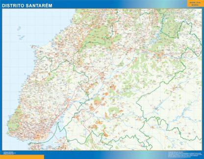 Mapa distrito Santarem gigante