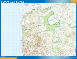 Mapa distrito Viana Castelo gigante