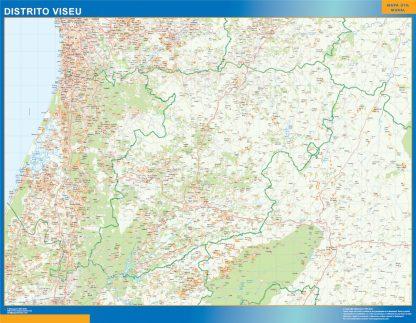 Mapa distrito Viseu gigante