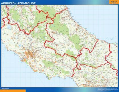 Mapa región Abruzzo Lazio Molise gigante