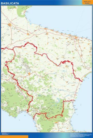 Mapa región Basilicata gigante