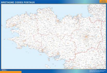 Mapa región Bretagne postal gigante