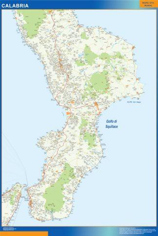 Mapa región Calabria gigante