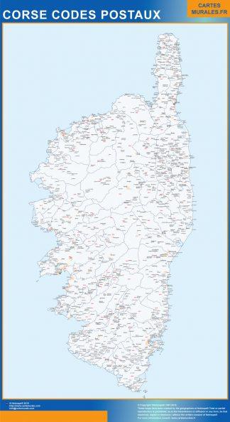 Mapa región Corse postal gigante
