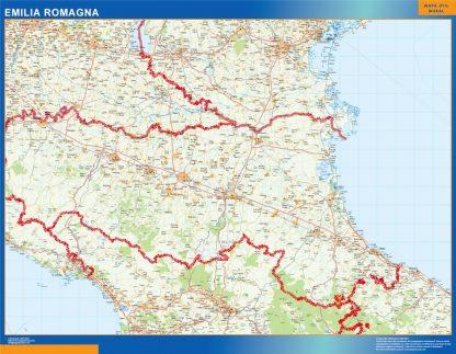 Mapa región Emilia Romagna gigante