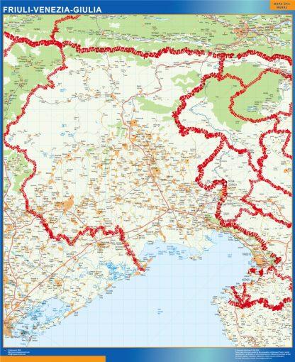 Mapa región Friuli Venezia Giulia gigante
