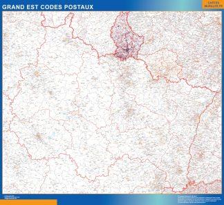 Mapa región Grand Est postal gigante
