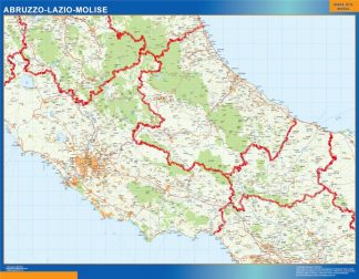 Mapa región Lazio gigante