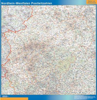 Mapa región Nordrhein-Westfalen codigos postales gigante