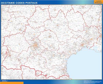 Mapa región OccitanIe postal gigante