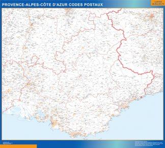 Mapa región Provence-alpes cote azur postal gigante