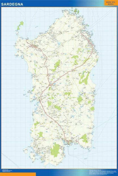Mapa región Sardegna gigante