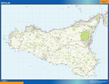 Mapa región Sicilia gigante