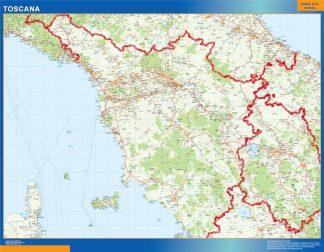 Mapa región Toscana gigante