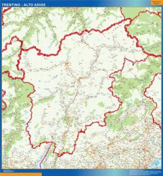 Mapa región Trentino Alto Adige gigante
