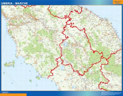 Mapa región Umbria gigante