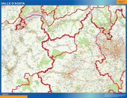 Mapa región Valle Aosta gigante