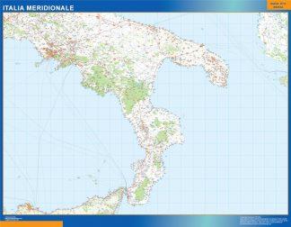 Mapa sur Italia carreteras gigante