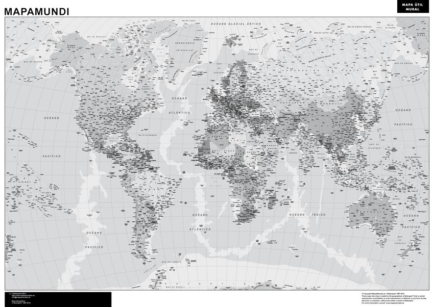 Mapa España Comunidades Autonomas Blanco Y Negro.Mapamundi Blanco Negro Magnetico Enmarcado Para Imanes Grande