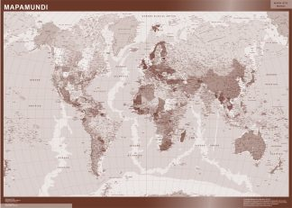 Mapamundi Color gigante