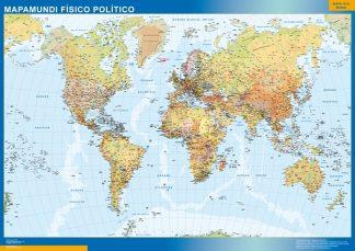 Mapamundi Fisico Politico gigante