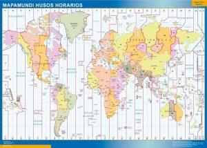 Mapamundi Husos Horarios gigante