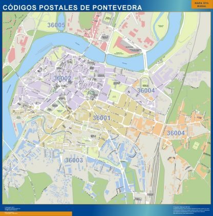 Pontevedra códigos postales gigante