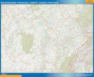 Región Bourgogne Franche Comte codigos postales gigante