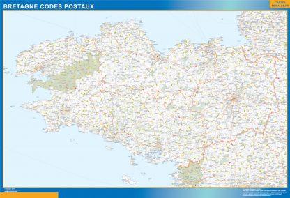 Región Bretagne codigos postales gigante
