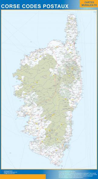 Región Corse codigos postales gigante