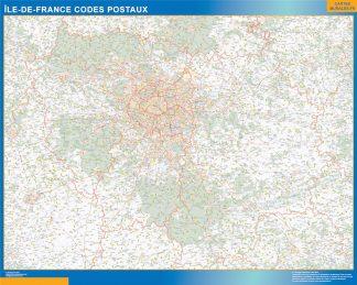Región Ile de France codigos postales gigante