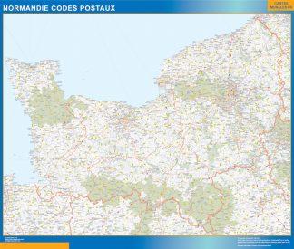 Región Normandie codigos postales gigante
