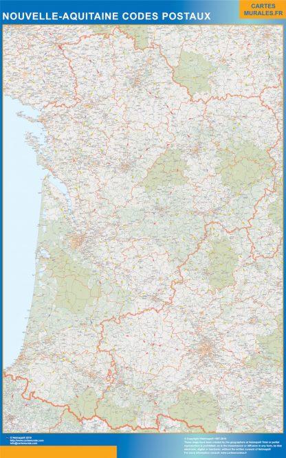 Región Nouvelle Aquitaine codigos postales gigante