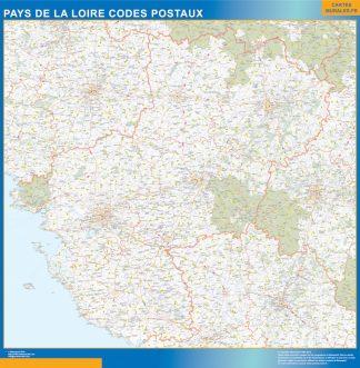 Región Pays de la Loire codigos postales gigante