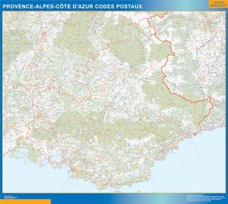 Región Provence-alpes cote azur codigos postales gigante