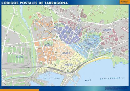 Tarragona códigos postales gigante