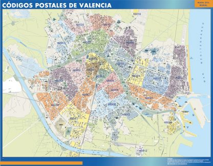 Valencia códigos postales gigante
