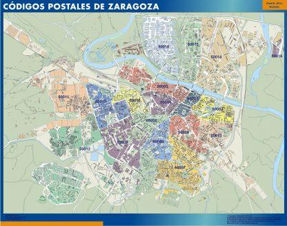 Zaragoza códigos postales gigante