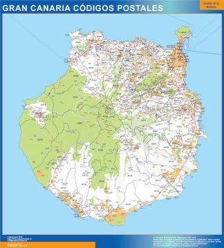 isla Gran Canaria códigos postales gigante
