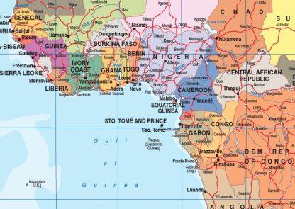Mapamundi en ingles paises